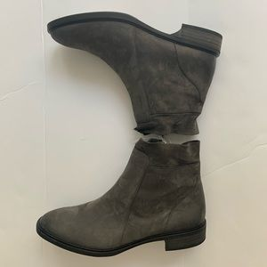 Women's Paul Green Ankle Boots Gray Suede Us 8